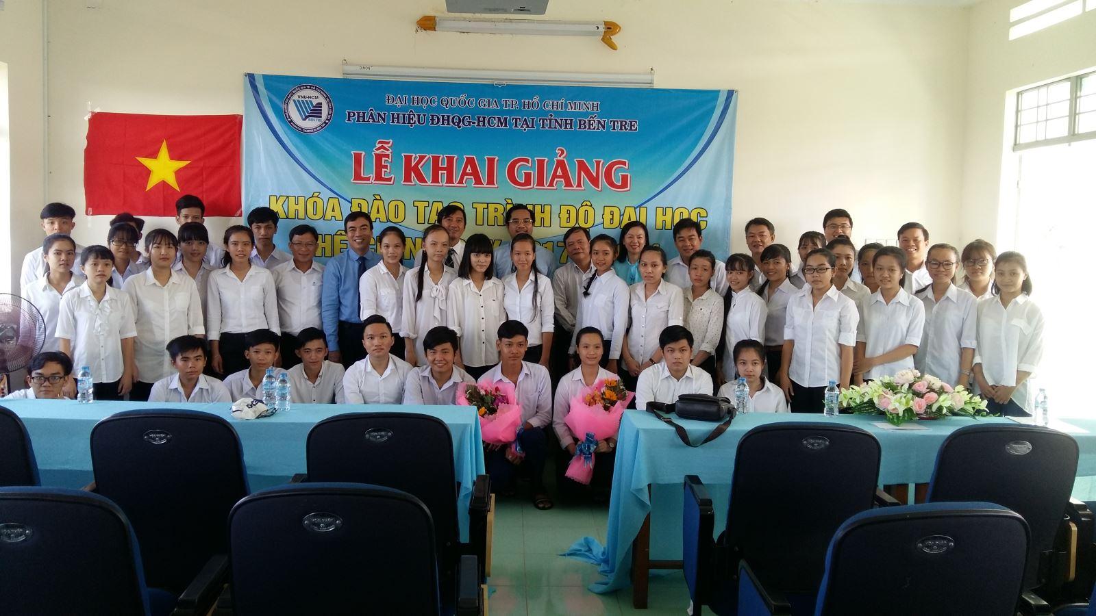 Khai giảng khóa đào tạo trình độ Đại học hệ chính quy đầu tiên ở Phân hiệu Đại học Quốc gia Thành phố Hồ Chí Minh tại tỉnh Bến Tre