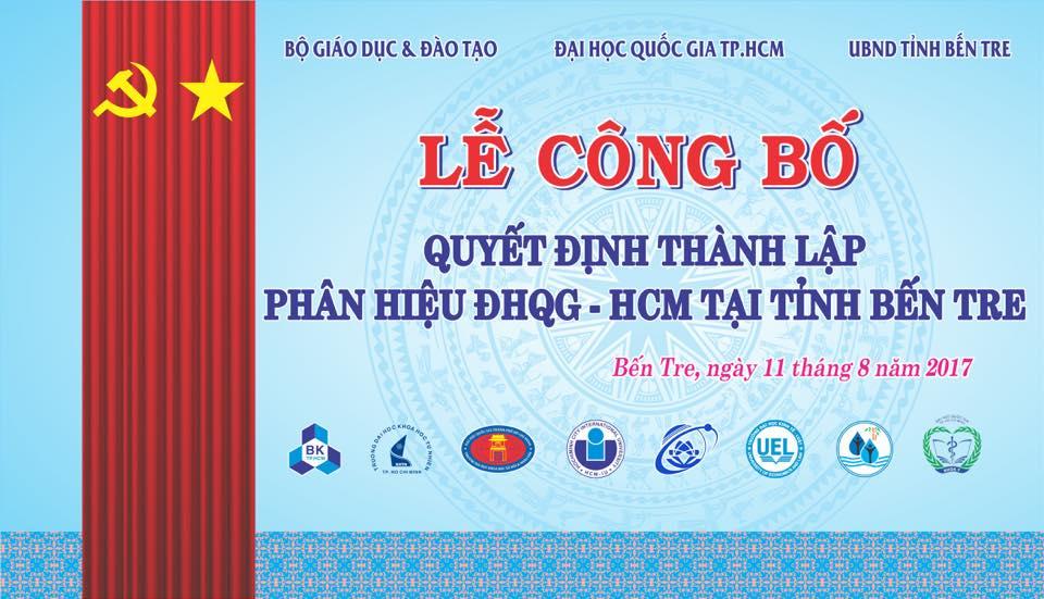 Lễ công bố Quyết định thành lập Phân hiệu ĐHQG-HCM tại tỉnh Bến Tre