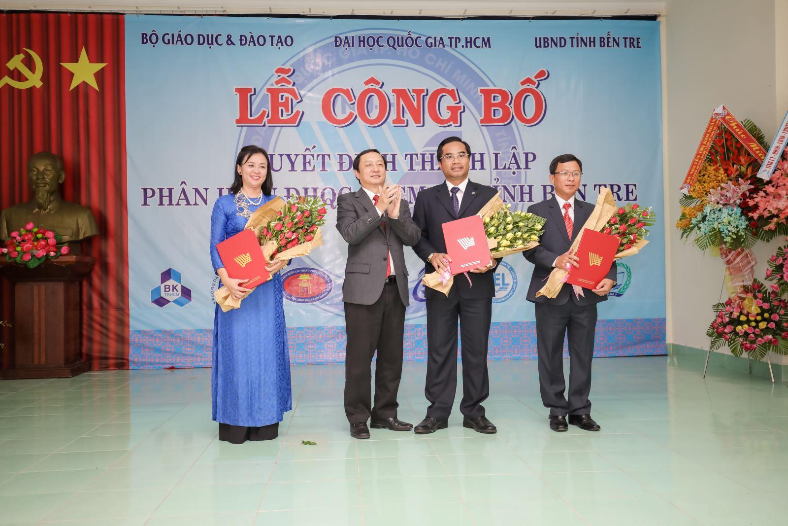 PGS. TS. Vũ Phan Tú giữ chức vụ Giám đốc Phân hiệu Đại học Quốc gia Thành phố Hồ Chí Minh tại tỉnh Bến Tre
