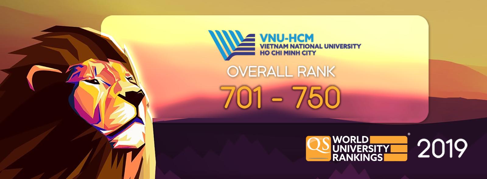 ĐHQG-HCM đứng top 701-750 trong Bảng xếp hạng QS World