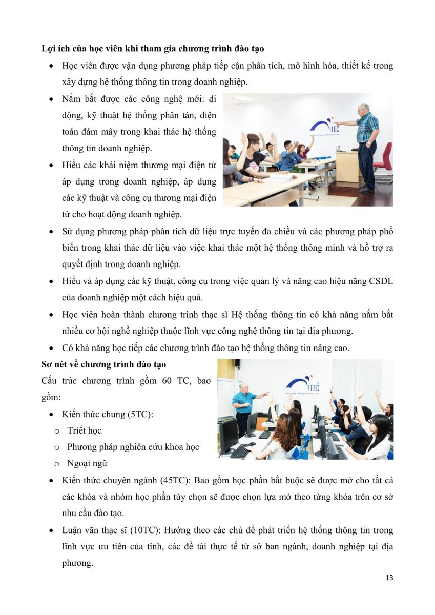 Chương trình Đào tạo Thạc sĩ Giảng dạy thực nghiệm dành cho giáo viên THPT, THCS & Thạc sỹ Hướng ứng dụng - Trường ĐH Khoa học Tự nhiên, ĐHQG-HCM