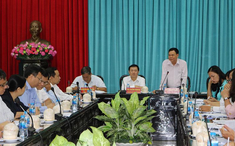 Thường trực Tỉnh ủy Bến Tre làm việc với Giám đốc ĐHQG-HCM về sự phát triển của Phân hiệu ĐHQG-HCM tại tỉnh Bến Tre